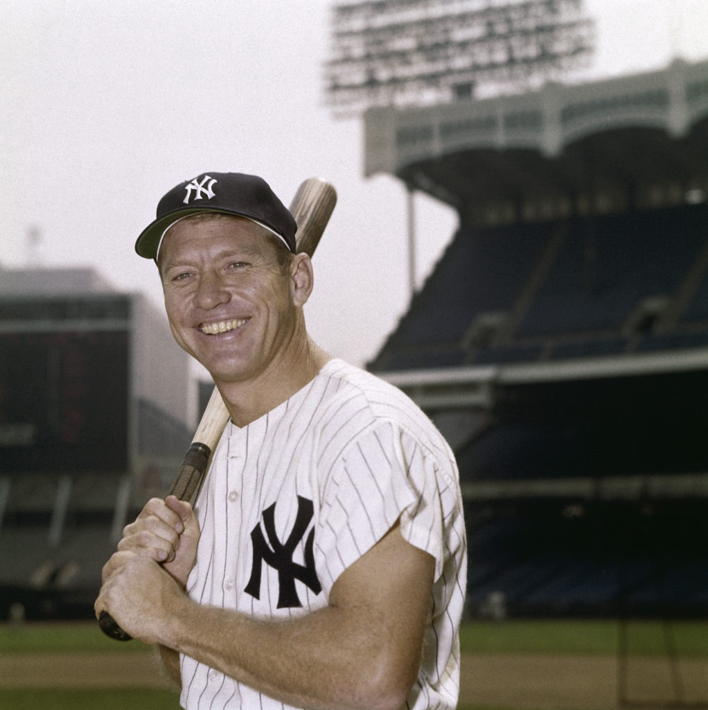 BRONX, NY: Mickey Mantle of the New York Yankees poses for a portrait at Yankee Stadium in Bronx, New York circa 1960. Mickey Mantle played for the New York Yankees from 1951 - 1968. (Photo by Louis Requena /MLB Photos via Getty Images)